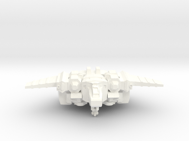 Chimera Advanced Battlesuit Fighter Mode in White Processed Versatile Plastic