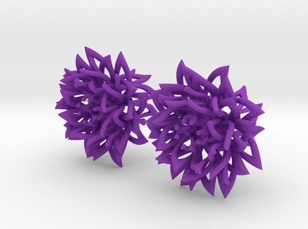 Plugs gauge the Chrysanthemum / size 1/2 (12mm) in Purple Processed Versatile Plastic