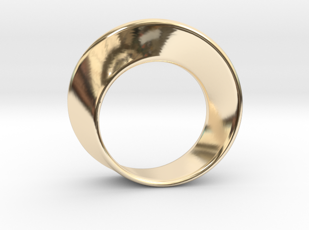 Mobius Strip Ring (Size 7) in 14k Gold Plated Brass