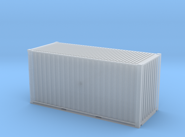 20' Hi Cube ISO Container (N Gauge 1:148) in Smooth Fine Detail Plastic