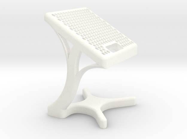 Sony SW3 Charging Stand Curve Shell in White Strong & Flexible Polished