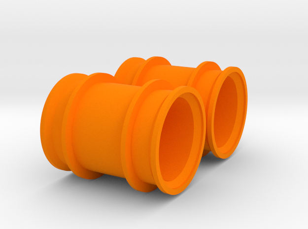 Mini-Z Monster MM-01 Rims in Orange Processed Versatile Plastic