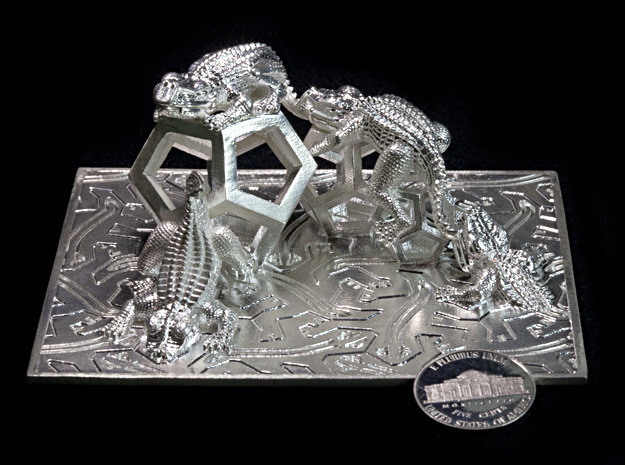 Reptiles & Dodecahedra mini sculpture Fine Art.