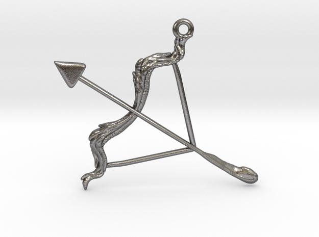 Sagittarius Pendant in Polished Nickel Steel