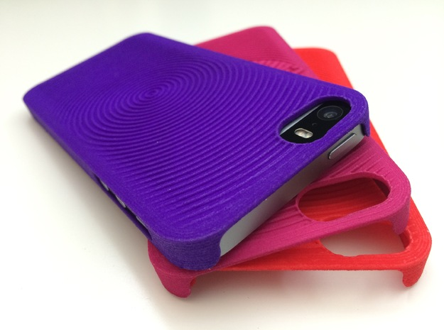PS.23 Case - C ( iPhone 5, 5S & SE ) in Purple Strong & Flexible Polished