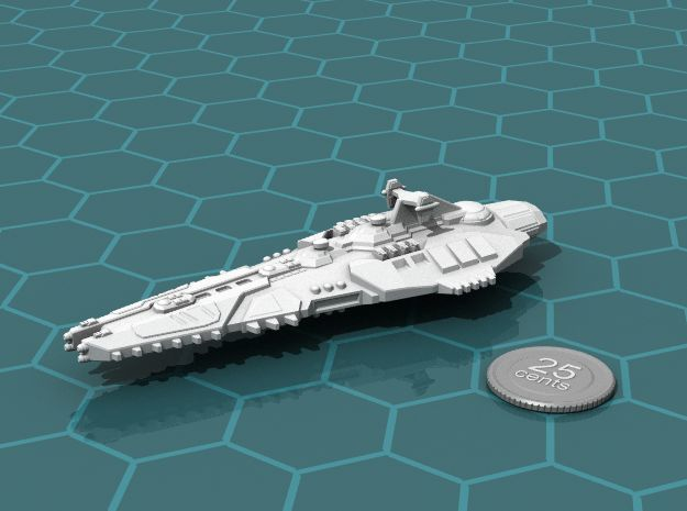 Stravok Kurr Command Ship in White Natural Versatile Plastic