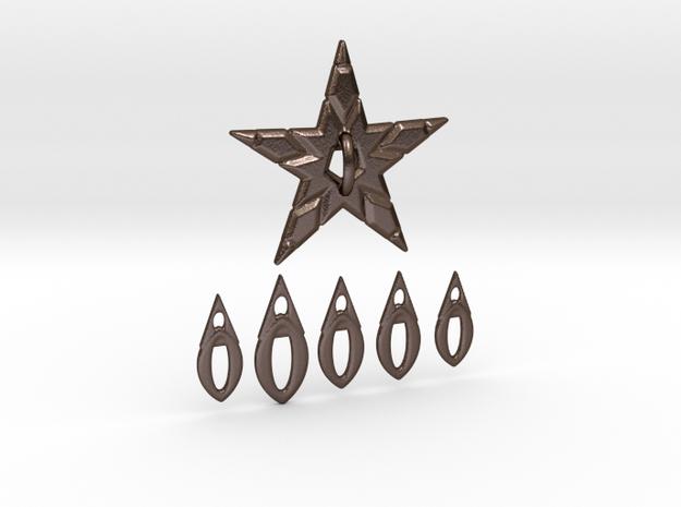 VENUS WINDCHIMES in Polished Bronze Steel