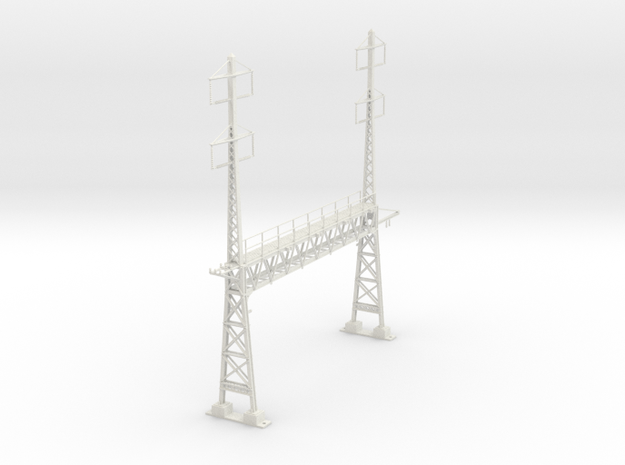 PRR S Scale Lattice Anchor Bridge With Bracket in White Strong & Flexible