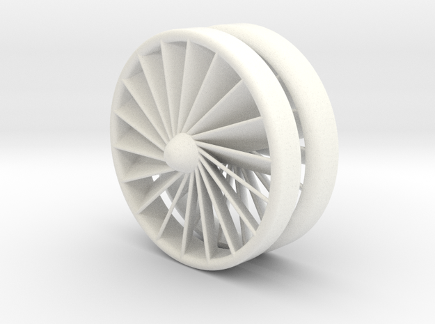 Turbine YoYo in White Processed Versatile Plastic