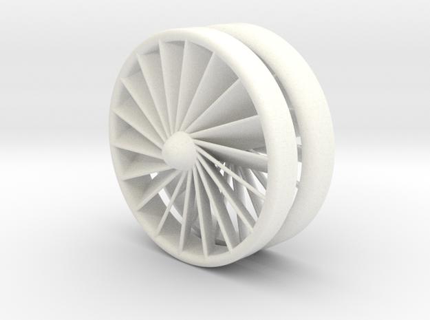 Turbine YoYo in White Processed Versatile Plastic