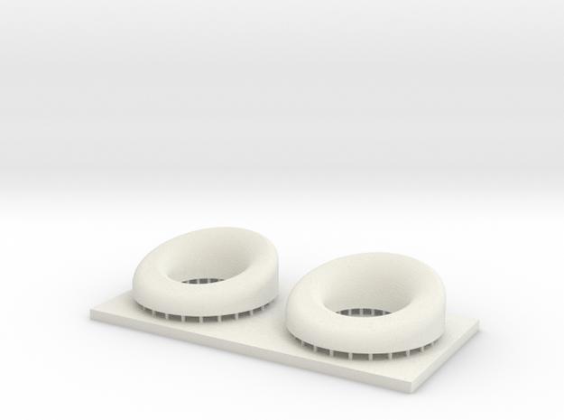 1/48 Hawsepipes x2 MSP48-002 in White Natural Versatile Plastic