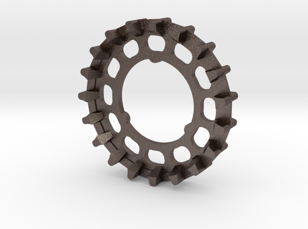 19-tooth GT-11 cog for Sturmey-Archer in Polished Bronzed Silver Steel