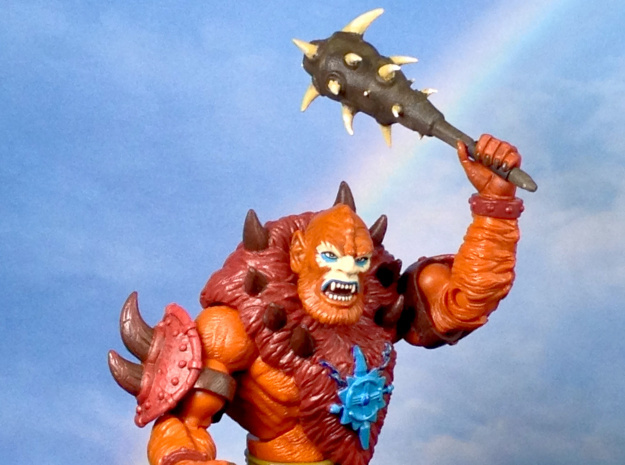 Beast Man's club in White Strong & Flexible