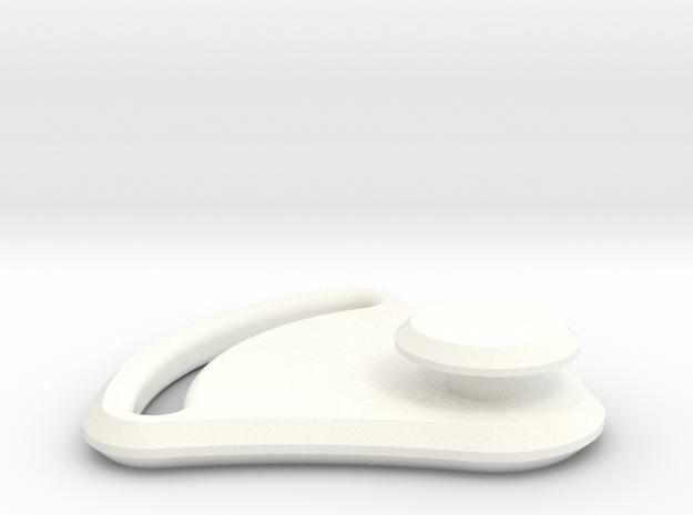 Fast Helmet Mask Loop in White Processed Versatile Plastic