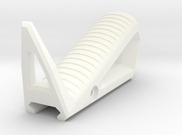 Hand Grip in White Processed Versatile Plastic