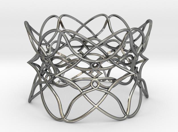 Bracelet the pattern in Polished Silver