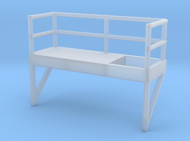 'N Scale' - 10' Ladder Platform - Left Side Openin in Smooth Fine Detail Plastic
