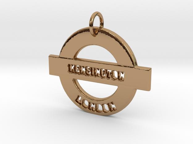 Kensington Sign in Polished Brass