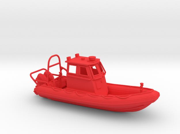 RIB Zodiac hurricane. 1:100 Scale  in Red Processed Versatile Plastic