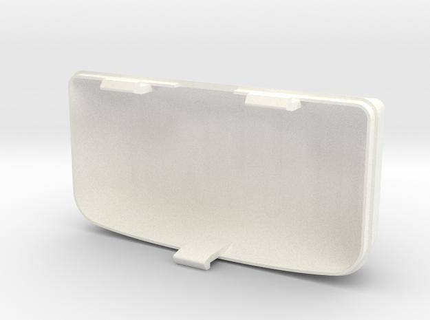 Fiat 126 interior light cover in White Processed Versatile Plastic