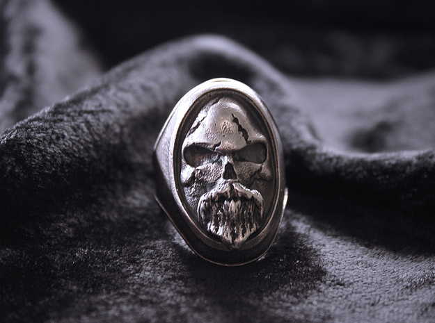 Ring Old Beard // Size US 10 3/4 in Natural Silver