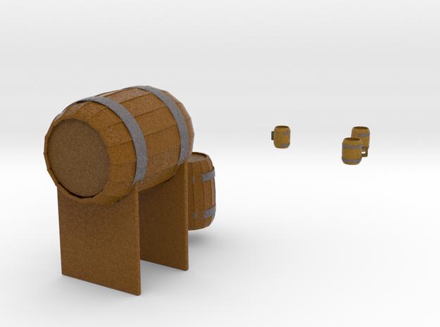 Barrel and tankards in Full Color Sandstone
