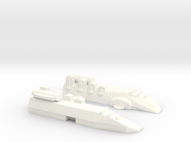 Small Destroyer in White Processed Versatile Plastic