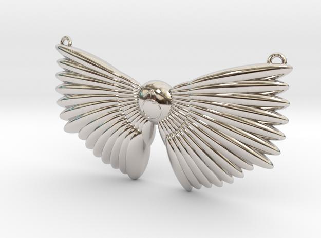 Winged Messenger Neckpiece in Rhodium Plated Brass