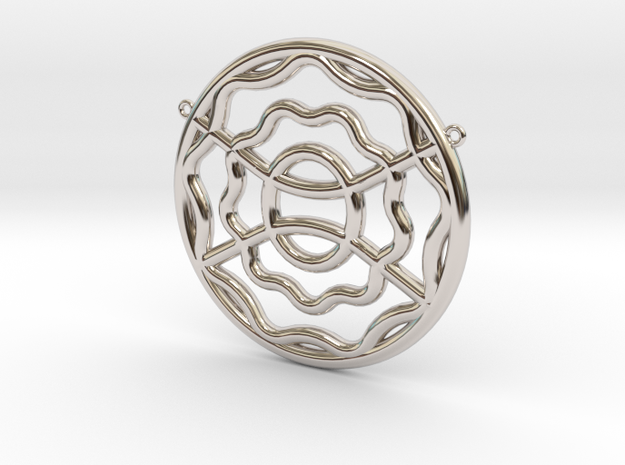 CYMATIC 9 Pectoral Piece in Rhodium Plated