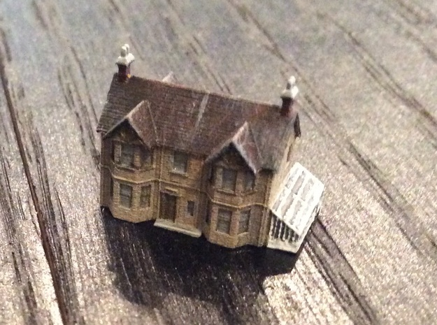 1:700 Scale English Farm House in Smoothest Fine Detail Plastic