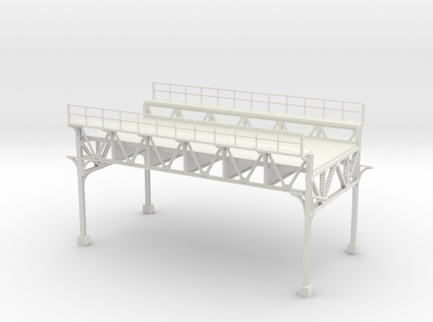 OLD MARKET ST ELEVATED HO scale  in White Natural Versatile Plastic