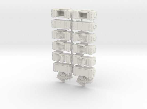 35mm - Ammo Boxes in White Natural Versatile Plastic