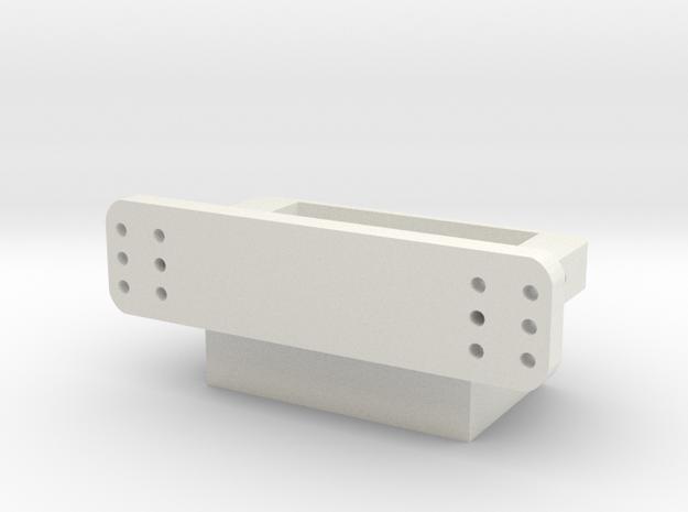 Hintere Karosseriebefestigung V1 in White Natural Versatile Plastic