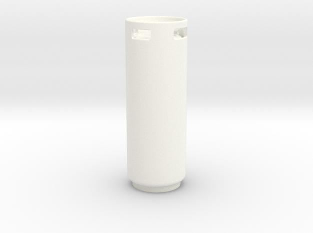 1/10 SCALE CRAWLER PROPANE TANK in White Processed Versatile Plastic