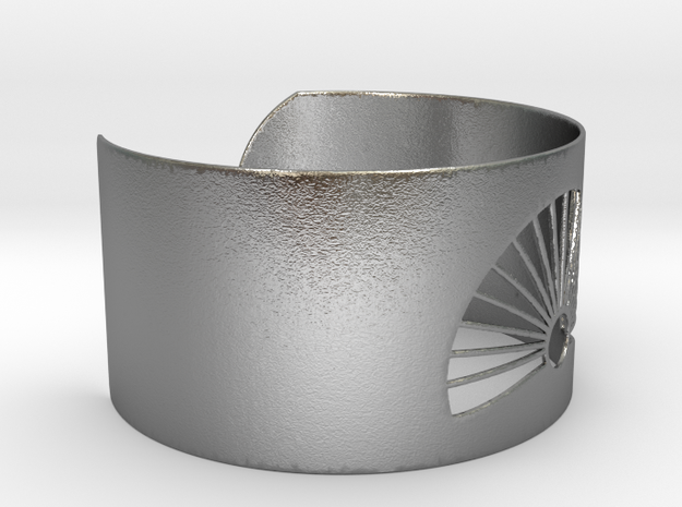 Ø2.677inch/Ø68 mm Japanese Sunrise Bracelet in Natural Silver