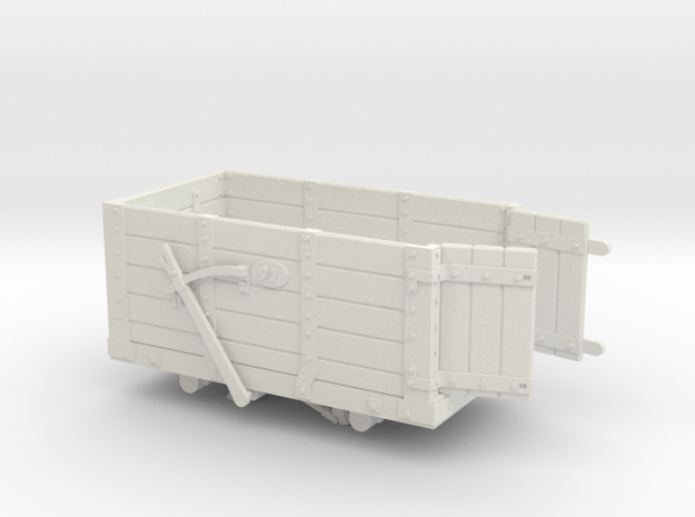 FR Wagon No. 97 7mm Scale Open Doors in White Natural Versatile Plastic