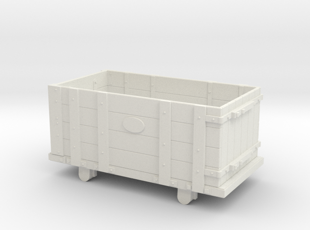 FR Four Plank Wagon 7mm Scale in White Natural Versatile Plastic