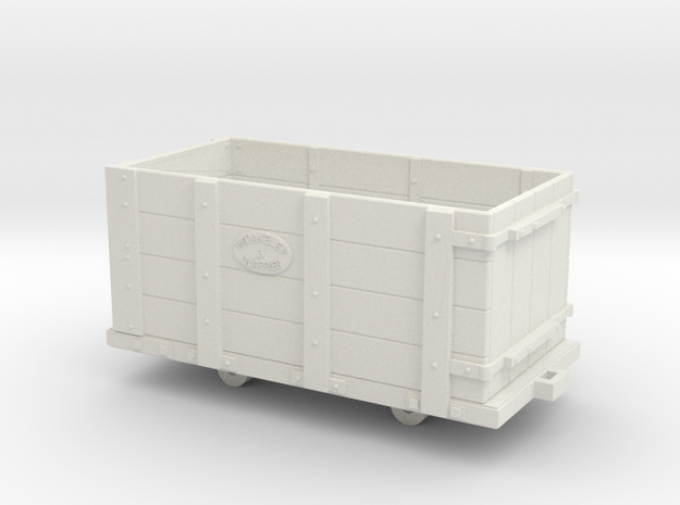 Oakley Quarry Wagon 7mm Scale in White Natural Versatile Plastic
