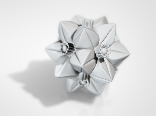 Escher Flower in White Natural Versatile Plastic