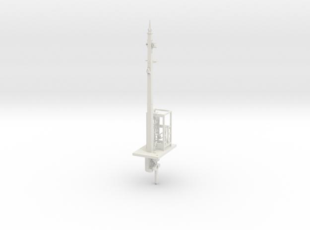 NSWGR 7mm Scale 23' Signal Lower Quadrant in White Natural Versatile Plastic