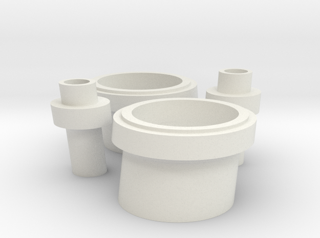 LCS Stack set, Large and Small in 1/96 scale 3d printed