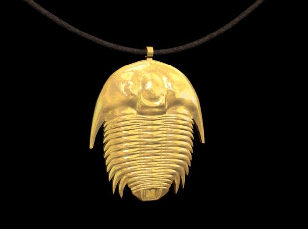 Trilobite Necklaces in 14K Yellow Gold