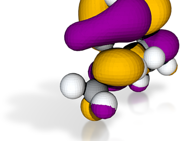 Dimethyl hexatriene,  lowest energy unoccupied pi- 3d printed