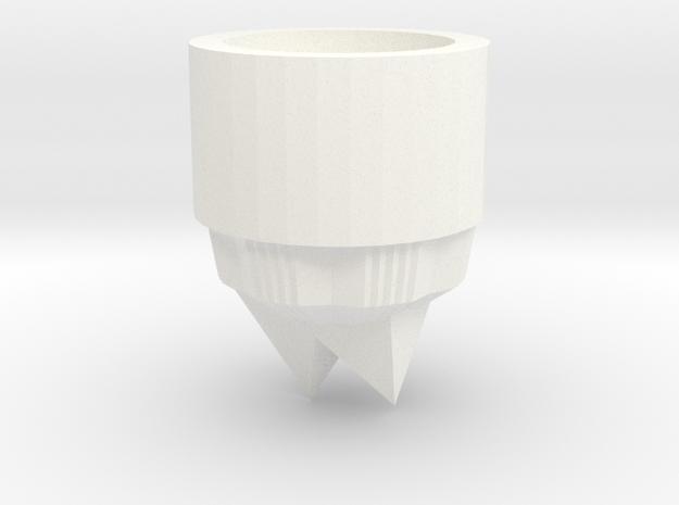 Crystal lightsaber Pommel  in White Processed Versatile Plastic