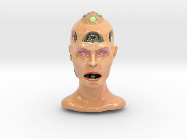 Alienhead in Glossy Full Color Sandstone
