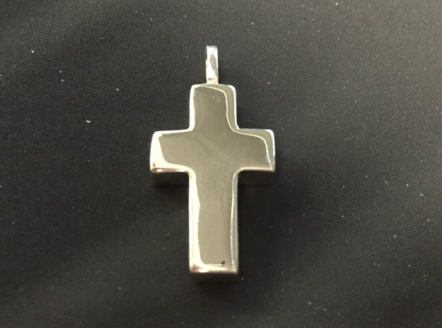 Cross for Pablo (Cruz) in Fine Detail Polished Silver