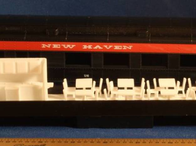 Athearn Heavyweight Passenger Diner Car Complete H 3d printed