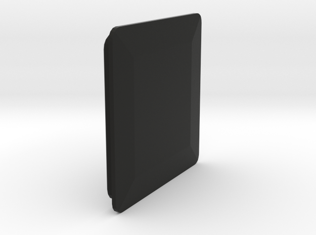 Covering Cap for Rectangular Tube in Black Natural Versatile Plastic