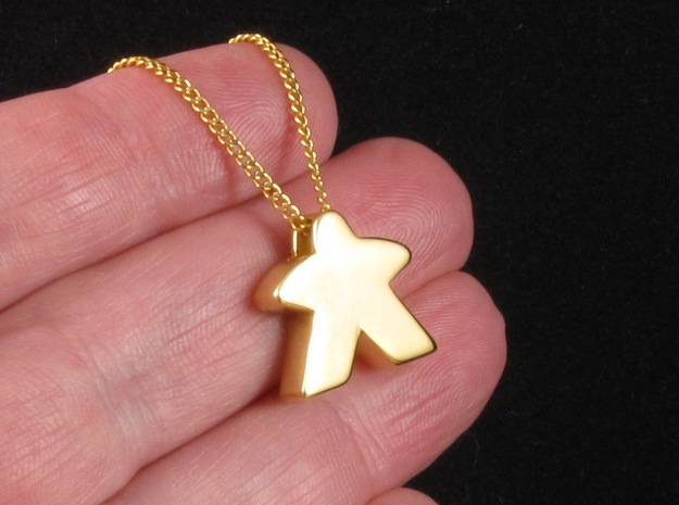 Meeple Pendant in 18k Gold Plated
