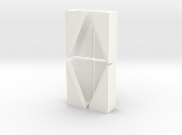 iPad Wall Mount in White Processed Versatile Plastic